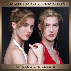 Kim and Misty Ormiston cast as Leeg 1 and Leeg 2 for Mockingjay Part 1 & 2