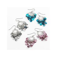 SO Silver Tone Chandelier Earring Set, Girl's, multicolor
