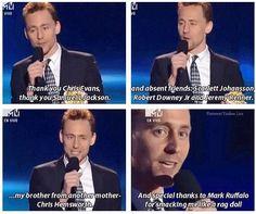 Hahaha oh Tom Hiddleston and Chris Hemsworth :)