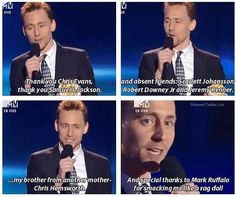 Hahaha oh Tom Hiddleston and Chris Hemsworth :)