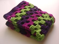 Made to Order: Crocheted Granny Square Lovey, Afghan, Blanket, Baby, Infant, Toddler on Etsy, £16.99