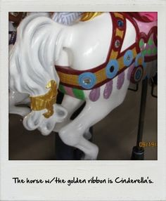 1 of the secrets of Magic Kingdom | disney world& the one next to it, on the outside, PROTECTING IT, is Prince Charmings horse!