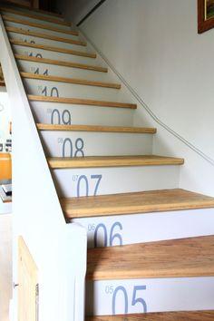 Staircase stickers sold at Initial Déco - stickers pour l'escalier en vente chez Initial Déco