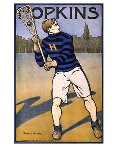 Hopkins Lacrosse Poster Print Art Vintage Print by DesignQuestArt