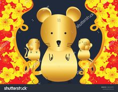 中国新年快乐2020年。鼠年 / Happy Chinese New Year Rat 2020 | The Arts, Holidays Stock Image