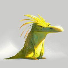 "12.6k Likes, 84 Comments - Sam Nassour (@samnassart) on Instagram: ""Basking Lizzy. Morning warmup sketch☀️ #art #sketch #character #lizard #creature #soaking…"""