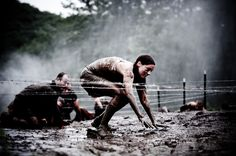 Barbwire and mud. What Spartan Chick wouldn't like that?