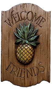 Pineapple Decor Welcome Sign