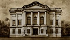 Architectural rendering of James Gibbes Art Gallery, by Frank P. Milburn, ca. 1903