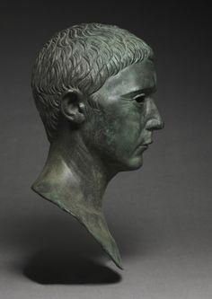 Portrait of a Man, 27 BC-AD 14 Italy, Roman, Augustan period bronze