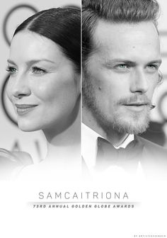 Sam & Caitriona: 73rd Annual Golden Globe Awards 2016....what a stunning couple they are too!