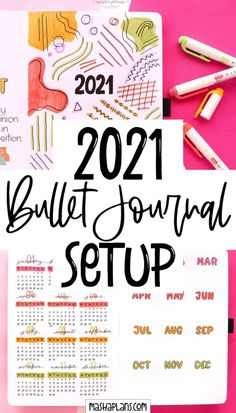 Join me as I set up my 2021 Bullet Journal. Get some fun Bullet Journal page ideas and watch my Plan With Me video. Cover page, future log, grid guide, and more great page ideas for your new Bullet Journal. #mashaplans #bulletjournal #bujo #bujosetup #bujo2021 #bulletjournaling