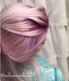 Purple rooted balayage hair