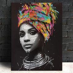 African American Art, African Art, African Women, African Culture, Canvas Poster, Canvas Wall Art, Big Canvas, Letter Wall Art, Arte Pop