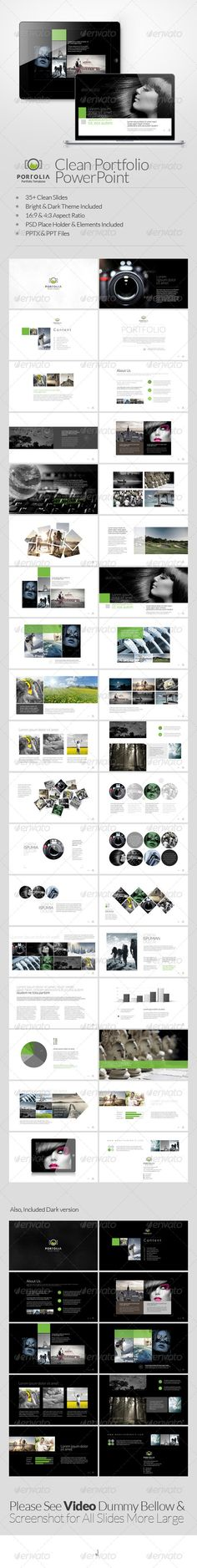 Portolia Multipurpose Clean Portfolio Powerpoint - Business Powerpoint Templates