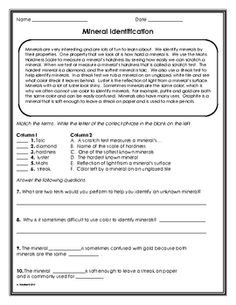 Worksheets Mineral Worksheet activities the ojays and rock on pinterest