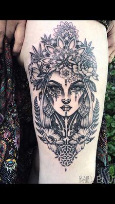 Beautiful lady ink.