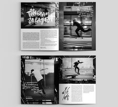 Dogway Skateboard Magazine — Redesign on Behance Graphic Design Books, Graphic Design Inspiration, Layout Inspiration, Editorial Layout, Editorial Design, Magazine Page Design, Mises En Page Design Graphique, Page Layout Design, Layout Book