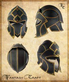 Fantasy casco de cuero por ~ I-TAVARON-I en deviantART