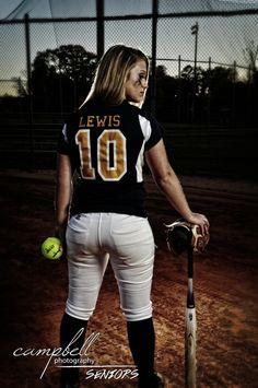 girl senior portrait, girls softball, softball portrait