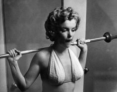 Marilyn was one of the 1st female stars to work out with weights.