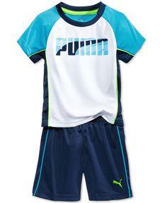 fcae02bb679b1 Puma Little Boys  2-Pc. T-Shirt   Shorts Set Kids - Sets   Outfits - Macy s