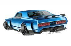 Custom Muscle Cars, Custom Cars, Road Race Car, Cool Car Drawings, Truck Art, Mustang Fastback, Car Illustration, Sweet Cars, Automotive Art