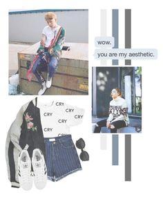 """Woo Jiho"" by lazy-alien ❤ liked on Polyvore featuring Chicnova Fashion, Isabel Marant, adidas, blockb, Zico and WooJiho"