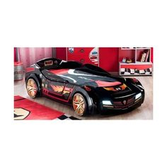 Exciting Car Bed for Preschool Boys Bedroom Decoration Design ❤ liked on Polyvore