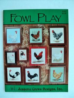 Fowl Play Counted Cross Stitch Book by DocksideDesignsEtc on Etsy, $6.00