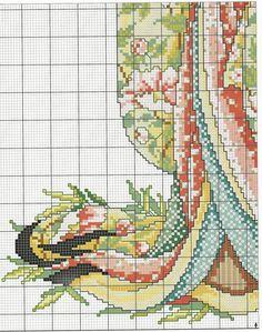 Schema punto croce Geisha-3