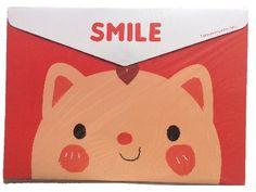 A 4 Roze kat horizontaal, cute, kawaii, map, cat, smile, webshop, nederland, ohsosweet, leuk, diy, rilakkuma