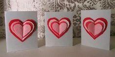 Layered Hearts Sewn Valentines