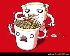 Zombie Cup-of-Noodles! Haha I don't know why I find this so funny!