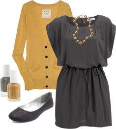 Gray and mustard