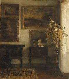 Vase Med Blomster (interior With A Vase Of Flowers) oil painting by Carl Vilhelm Holsoe, The highest quality oil painting reproductions and great customer service! Oil Painting Flowers, Painting & Drawing, Oil Painting Reproductions, Gravure, Art Sketchbook, Beautiful Paintings, Flower Vases, Oeuvre D'art, Painting Inspiration