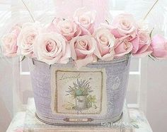 Pink Pastel Roses, Shabby Chic Roses Photograph, Paris Roses Photo, Dreamy Pink…