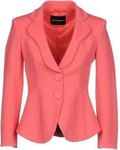 Emporio Armani Women Blazer on YOOX. The best online selection of Blazers Emporio Armani. Armani Blazer, Armani Suits, Blazer Fashion, Fashion Outfits, Fashion Clothes, Blazers For Women, Jackets For Women, Sari Blouse Designs, Professional Outfits