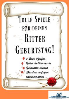 Ritter Kindergeburtstag Spiele A knight party is always a popular motto for a children's birthday party. Here are some great ideas for Knight Kids Birthday Games. Birthday Tags, Boy Birthday, Happy Birthday, Birthday Games For Kids, Game Day Quotes, Soccer Baby, Knight Party, Lema, Birthday Celebration
