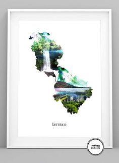 Unique County LeitrimPrint consists of scenes from Glencar Waterfall and Glencar Lake in Irelands west coast. SIZE Glossy photo finish paper FRAME NOT INCLUDED Paper Frames, Wall Decor, Wall Art, Ancestry, Digital Prints, Ireland, Waterfall, My Arts, Architecture