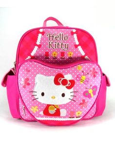 Small Size Pink Butterflies and Bees Hello Kitty Backpack  Hello Kitty Bookbag *** Check this awesome product by going to the link at the image.