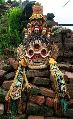 Tibetan Mask of Citipati | traditionalartofnepal.com