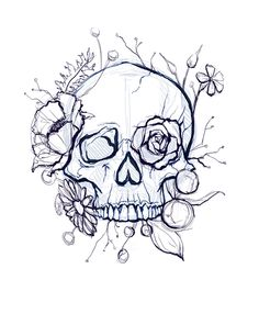 skull art drawing - skull art & skull artwork & skull art drawing & skull art dark & skull art pretty & skull art tattoo & skull art wallpaper & skull art black and white Art Drawings Sketches, Tattoo Sketches, Cool Drawings, Tattoo Drawings, Skull Drawings, Skull Sketch, Kunst Tattoos, Body Art Tattoos, Flower Skull Tattoos