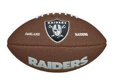 66a62d038 Bola de Futebol Americano Wilson - NFL Team Logo Jr Oaklahand Raiders