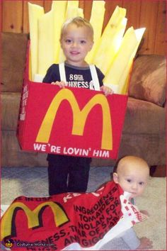 French Fries and Ketchup Packet from McDonalds homemade Halloween costume