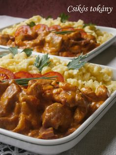 CSIKÓSTOKÁNY Pork Recipes, Cooking Recipes, Healthy Recipes, Delicious Dinner Recipes, Yummy Food, Hungarian Recipes, Good Foods To Eat, Pork Dishes, Food 52