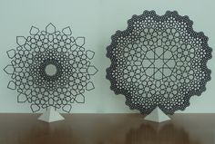 Islamic Fractal Star and Flower by Phil Webster. http://www.islamicinsights.net