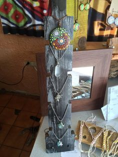 Wooden jewelry display Necklace display Bracelet display Multiple piece Home organizer Craft show display B/X Block Jewelry Table Display, Bracelet Display, Vendor Displays, Craft Fair Displays, Art And Craft Shows, Hanging Necklaces, Jewelry Quotes, Organizer, Jewelry Organization