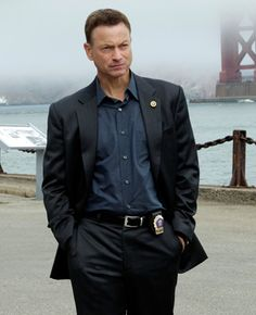 Gary Sinise as Detective Mac Taylor on CSI:NY.