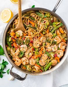 Healthy garlic shrimp pasta stir fry an easy and healthy dinner healthy garlic shrimp pasta stir fry an easy and healthy dinner recipe perfect for nights when you dont feel like cooking food recipes pinterest forumfinder Gallery